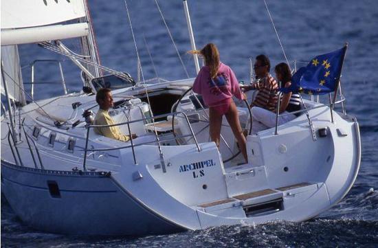 The Beneteau Oceanis 400.