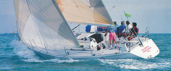 A photo of a J/39 sailboat.