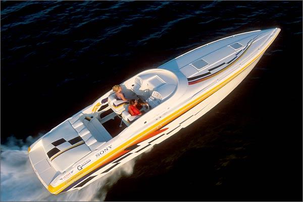 The Powerquest 380 Avenger runs 70-plus-mph.