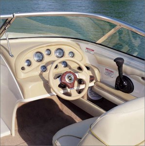 All gauges at the helm are clearly visible and logically arranged.