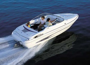 While a cuddy cabin runabout has less open space than a bowrider, it offers shelter and sleeping accommodations. (Photo courtesy Glastron)