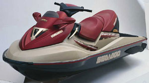 The popular GTX platform was used for the new four-stroke model.