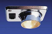 The Eyelight fixture is an adjustable, recessed spotlight with switch.