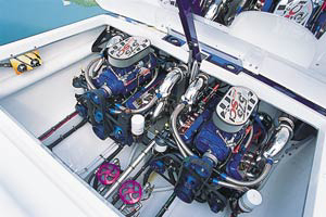 Twin 575-horsepower HP575SCi engines from Mercury Racing provided the power.