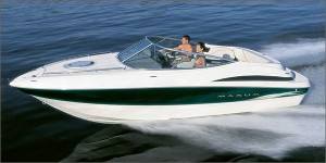 Maxum's 2300SC is a stylish cuddy-cabin runabout.