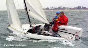 Hold on tight, fast and furious action in Chichester Harbour
