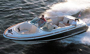 "The most fitting descriptive that comes to mind when considering the 2002 Chris-Craft 25 Launch is ""trophy boat."""