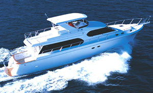 The cruiseworthy hull makes the 64 SE an especially comfortable boat for coastal cruising. (Photo by Frank Charron)