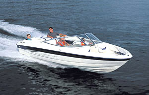 The Bayliner 205 tracked straight, turned crisply and reached 51 mph.