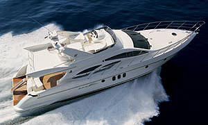 Azimut's 62 offers uncommon luxury and styling.