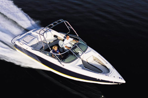 """Cobalt's 250 BR is a great example of the """"new breed"""" of runabouts that can handle towing, as well as recreational, duty. (Photo by Tom Newby)"""