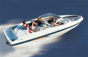 Top speed for the Bayliner 225 was 53.2 mph.