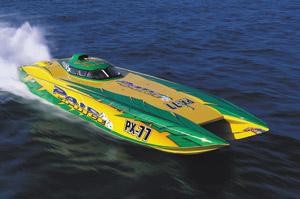 MTI 42SC Catamaran: Powerboat Profile