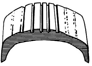The tread on a tire that's been chronically under-inflated will wear on the outside edges.