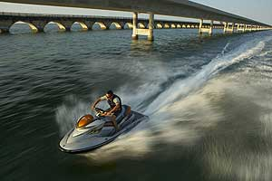 The ultimate boy-racer watercraft, the Sea-Doo RXP-X combines a supercharged, 255-hp engine with a nimble runabout hull. The result is furious acceleration and razor-sharp handling.