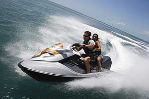 A 255-hp supercharged Rotax engine pushes the three-passenger Sea-Doo RXT-X to a new level of performance, with acceleration so strong passengers will need to be notified before blast-off.