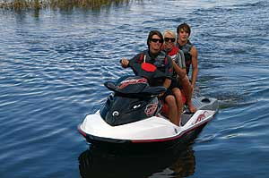 In most states a three-passenger PWC is required for any tow sports. The third seating position means there's always a spot for the boarder or skier if she or he is tired or injured.