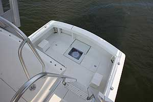 The gyro-stabilization system installs underneath a yacht's deck.