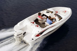 With two aboard, the SSV 170 topped out at 37 mph.