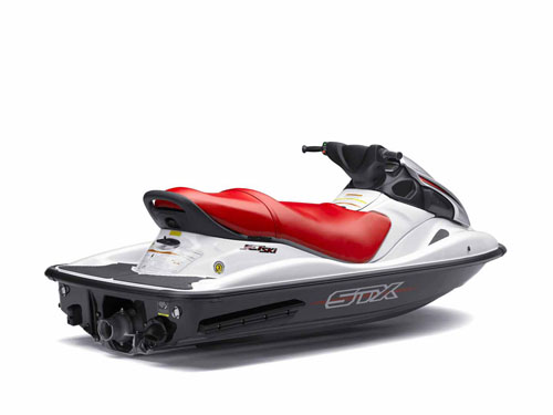 New for 2009, the $7,899 Kawasaki STX comes without reverse and mirrors but will still top 60 mph.