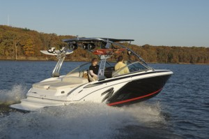 The Cobalt 232 WSS is a watersports-oriented runabout.