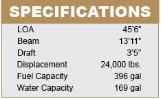Beneteau Swift Trawler 44 Specifications