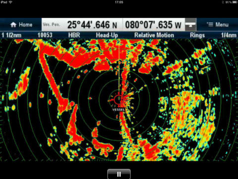 Want to check the radar screen on your tablet? That's not a problem for Raymarine users with RayView.