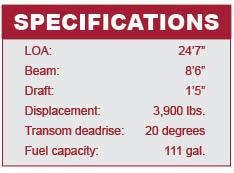 Boston Whaler 230 Vantage specifications