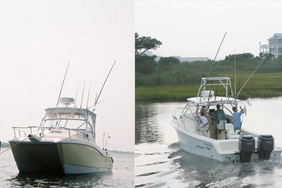 powercat versus mono hull