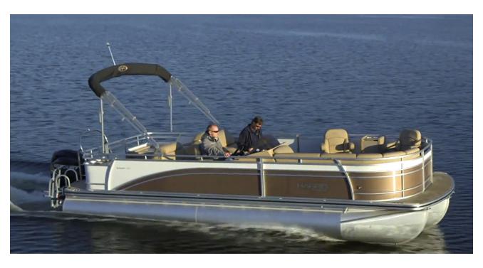 Harris FloteBote Sunliner 240: Video Pontoon Boat Review