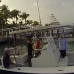 Seastar Optimus outboard joystick in action on Dorado