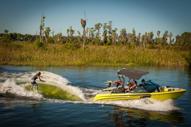 A photo of the Super Air Nautique 210 with rider.