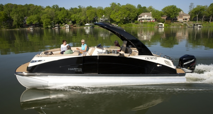 Harris FloteBote Crowne 250: Luxury, Redefined