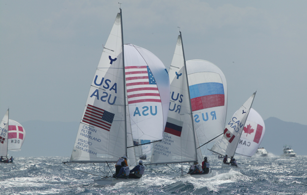 downwind on the windiest day of the Athens 2004 Games