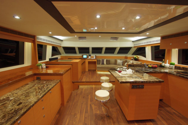 The main salon on the PC52 is as larges as some 100-footers.