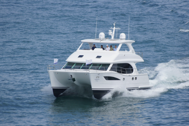 The Horizon PC52 has an aggressive stance and a not-too-shabby 22-knot top end.