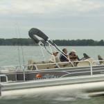 Sun Tracker Fishin' Barge 22 video boat review