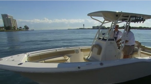 Key West 239 FS center console powerboat video quick tour