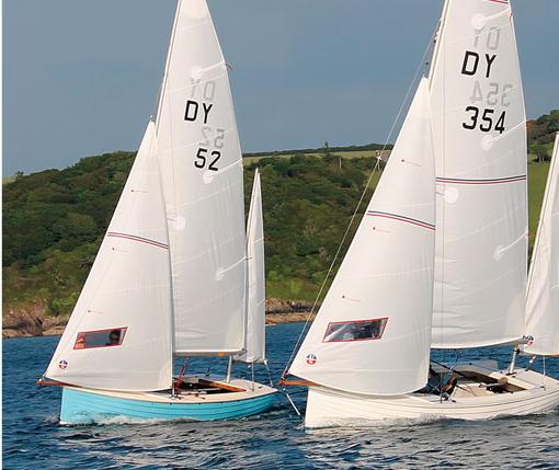 Devon yawls under sail