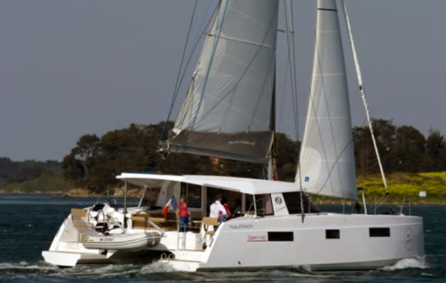 Nautitech open 40 sailing catamaran