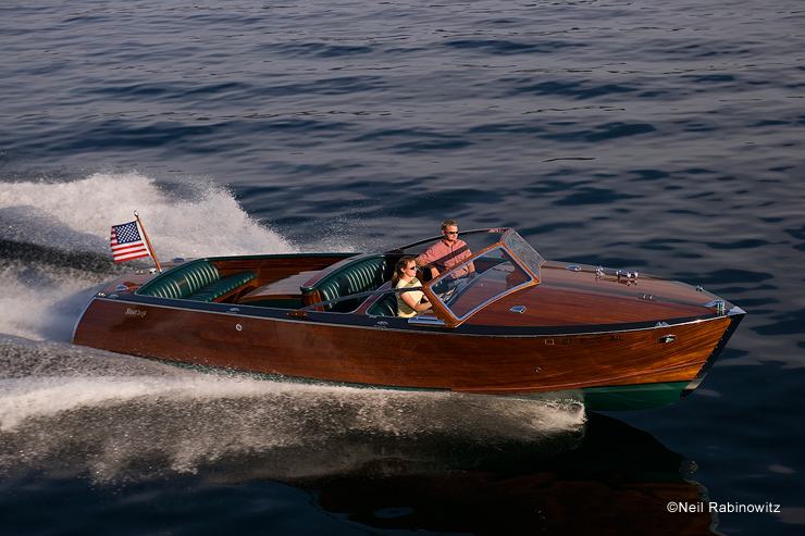 Varnish counts, both in quality and quantity, which pushes this 27' Stancraft LowBoy onto the yacht list. Photo: Neil Rabinowitz