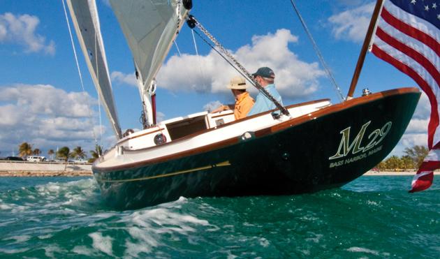 Morris M29 under sail