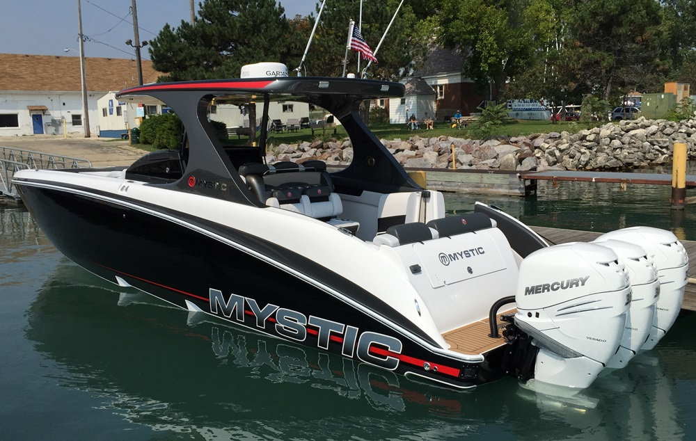 Triple orquad outboards are options for the boat.