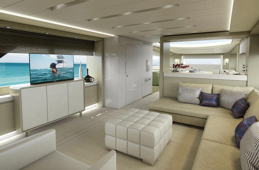 Hatteras 70 Motor Yacht salon