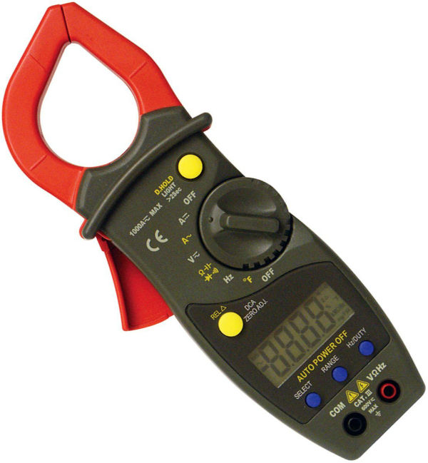 A clamp-on meter set to measure amperes will help you determine the electrical demands of your system.