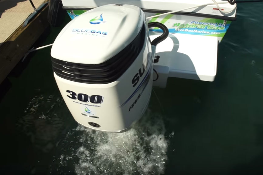 Blue Gas Marine Natural Gas Outboard: First Look Video thumbnail