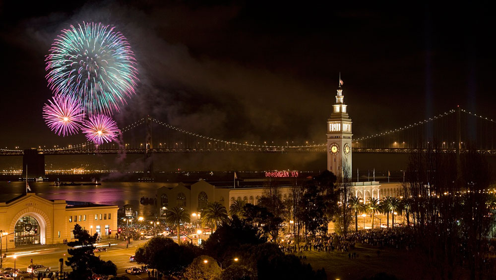 Pier 39 is a great place to visit by land in San Francisco, but it also provides a great backdrop for a July 4 waterside fireworks show. Photo courtesy of Visit San Francisco
