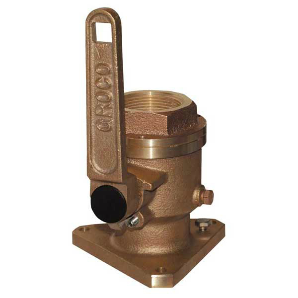 Traditional bronze seacocks have their advantages if well-made of high-quality alloy, but they must be maintained carefully (like all such fittings) and protected from galvanic corrosion. Photo courtesy of Groco.
