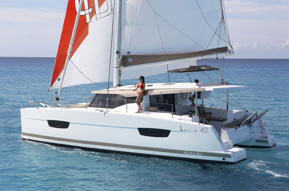 Somehow, the new Lucia 40 is actually larger and more amenity-laden than the Lipari 41 she replaces.