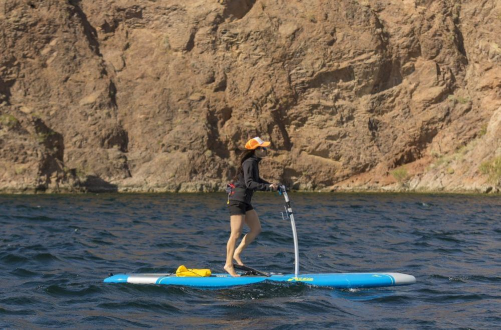 Is it a stand up paddleboard, or a stair-stepping machine? Yes.